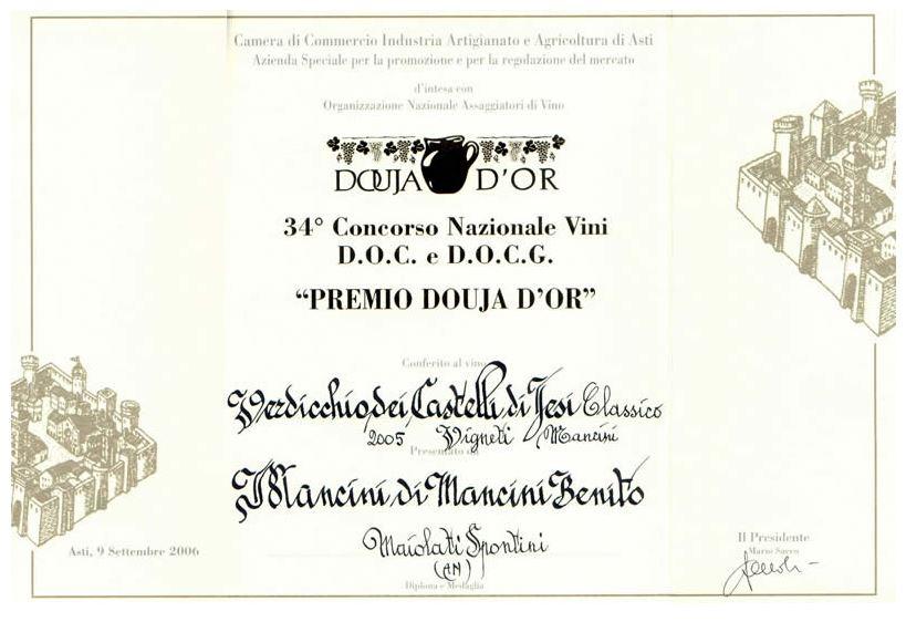 Verdicchio classico - Mancini Vini - Moie di Maiolati (An)